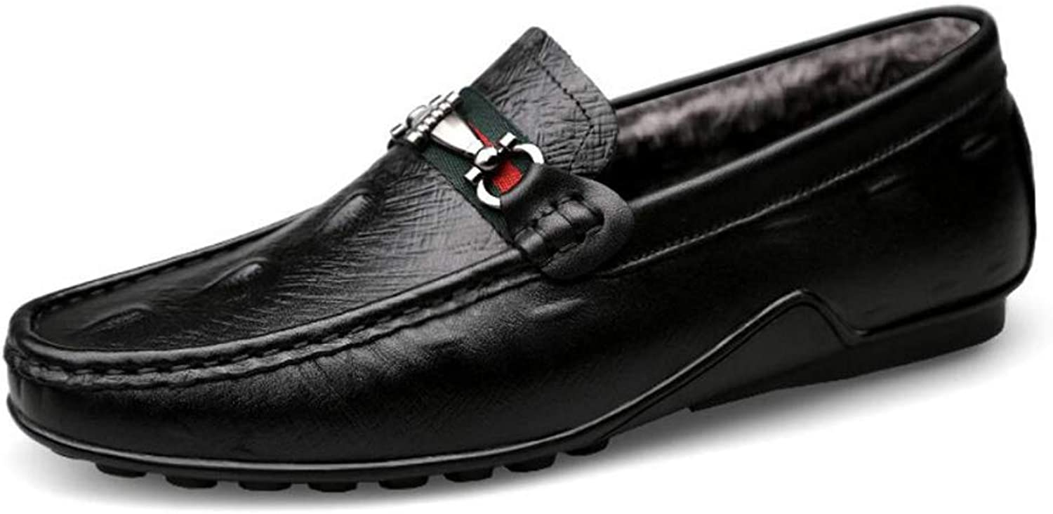 Men's Casual Loafers Flat Leather Fashion Driving shoes,Spring Fall Comfort Loafers & Slip-ONS,Lazy shoes,Soft Light Soles,