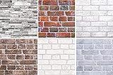 1 Platte | Dekor Paneele | Ziegeloptik | Wand | PVC | stabil | 95,1x49,5 cm | 55154