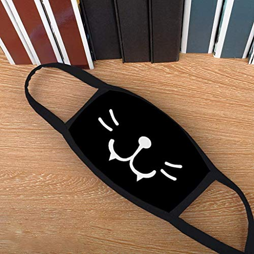 RENREN Lot de 8 bouches Motif Chat … (Noir 1)