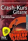 Crash-Kurs Gitarre inkl. Plektrum - Gitarre lernen ohne Noten mit 12 der schönsten