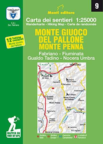 Monte giuco del Pallone, Monte Penna. Fabriano, Fiuminata, Gualdo Tadino, Nocera Umbra