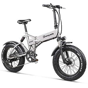Shengmilo MX21 eBike Elektrofahrrad 20 Zoll e-Bike Mountainbike Klappbar Electric Fahrrad ebike Herren Damen 4.0 Fetter Reifen 500W bürstenlosem Moto 48V Lithium Batterie