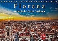 Florenz - Schoenheit in der Toskana (Tischkalender 2022 DIN A5 quer): Florenz - wunderschoen und das kulturelle Highlight in der Toskana (Geburtstagskalender, 14 Seiten )