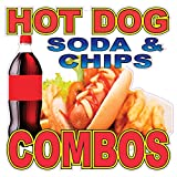 Hot Dog Soda& Chips Combo Concession Restaurant Food Truck Die-Cut Vinyl Sticker 10 inches