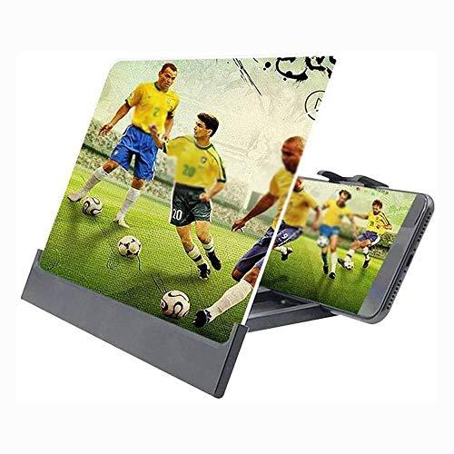OFF 12-Zoll-Telefonbildschirm Lupe, Handy Projektor Bildschirm Vergrößerer HD for Filme, Videos und Gaming - Faltbare Telefon-Standplatz mit Screen Amplifier