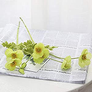 Artificial and Dried Flower 2pcs/lot Artificial Flowers Silk Poppy Flowers for Wedding Decoration Fake Flowers Poppy Flower for DIY Home Room Garden Decor – ( Color: F )