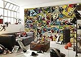 Sijoo Papier Peint Marvel Comics, Chambre d'enfant, Papier Peint Photo 3D de Capitaine Mural,...