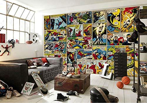 WHTYY Marvel Comics Wallpaper Murales de pared 3D personalizados Capitán América Papel tapiz fotográfico Niños Niños Dormitorio Oficina Tienda Decoración de la sala de arte Hulk-300X210cm