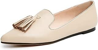 Nine Seven Women's Leather PointToe Tassel Flats