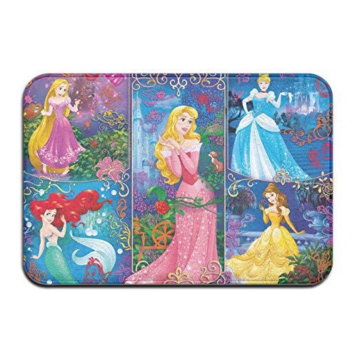 Custom made Alfombra de entrada antideslizante de la princesa Disney para exteriores/interiores, duradera e impermeable, lavable a máquina, 60 x 40 cm
