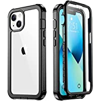 Military Grade Rugged Case for iPhone 13 Mini (Black/Clear)