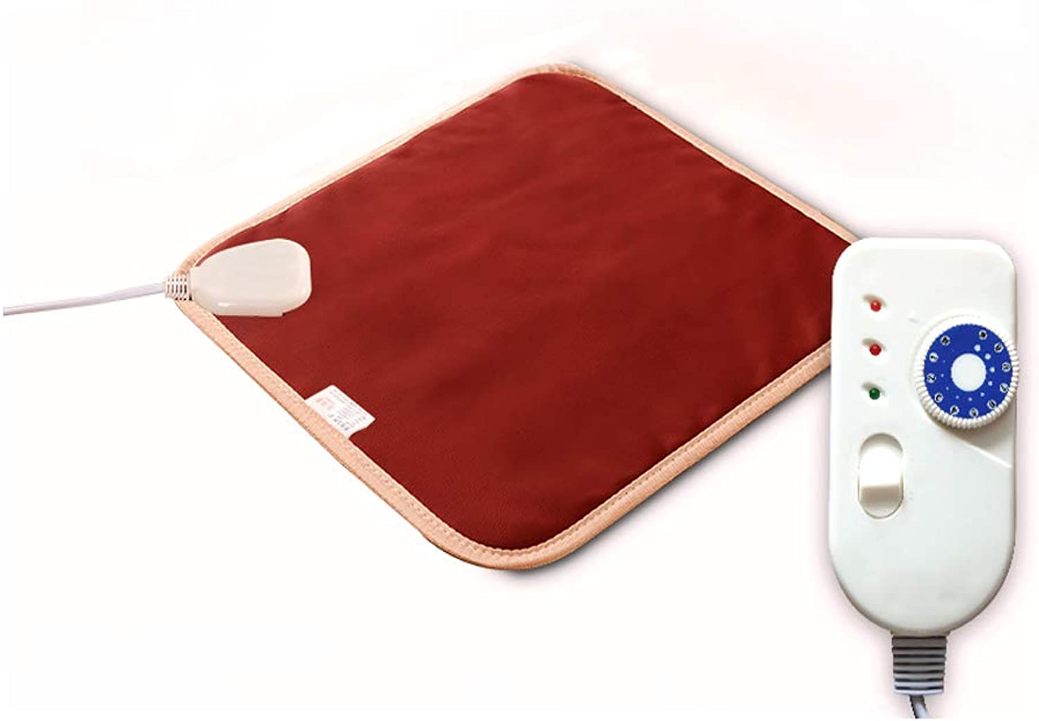 Pet Heat Pad Dog Cat Electric Heating Pad Waterproof 10 Levels of Temperature Adjustable with Chew Resistant Steel Cord 15.7 x23.6 ,Red,S