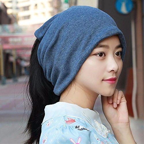 YANGFEIFEI-MZ Hat der Kopf weibliche Schal Cap Sleeve Kappe auch Schwangere Frauen Cap-Handtuch Paare Cap, Blau