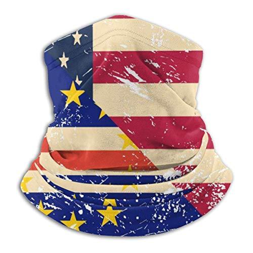 Niet van toepassing in de VS en Cap-groen retro vlag hals gamassen masker gezicht hoed bivakmuts voor wielrennen, skiën