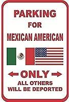 ユニークな壁の装飾メキシコアメリカ人その他B、錫壁サインレトロな鉄の絵画ヴィンテージ金属ポスター警告プラークアート装飾バーカフェストアホームガレージ