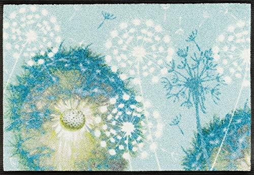 Wash + Dry Leone Fußmatte, Acryl, blau, 50 x 75 x 0.7 cm