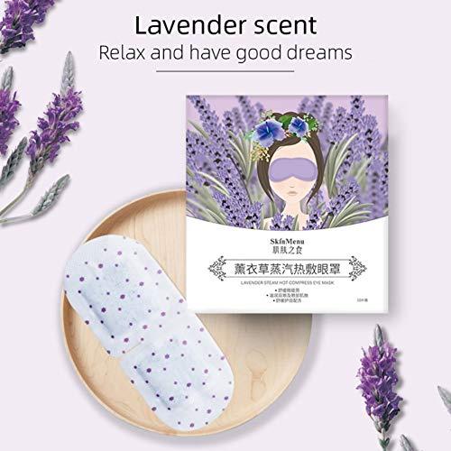 ARTIFUN 10 stuks Stoomoog masker Lavendel Rose kamille Hot Compress Shading Slaapmaskers Relax Verbetering Oogzak Pads & Lavendel