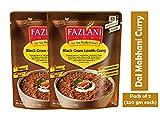 FAZLANI ALIMENTOS Listo para comer Dal Makhani -Negro Gram lentejas al curry, -Pack de 2, 250 gramos cada
