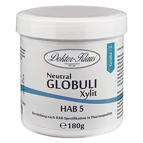 180g Neutral Globuli HAB 5, Doktor-Klaus, aus XYLIT (zuckerfrei), in weisser Kapselbox