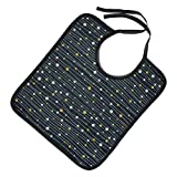 Healifty Adult Bib for Eating Waterproof Reusable Bib Apron Mealtime Clothing Protector Drooling Bibs for Elderly Seniors Student Disabled Navy