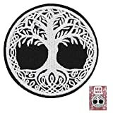 Yggdrasil The Tree of Life in Norse Mythology Thick Patch Embroidered Badge Iron On Sew On Emblem Applique