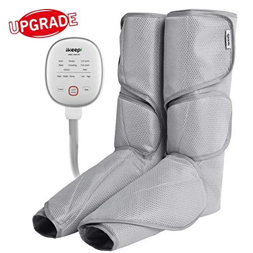 Ikeepi Leg Air Compression Massager for Foot and Calf Circulation, Upgrade Foot Massagers...