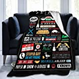 CAPTIVATE HEART Friends TV Show Blanket Sofa Comfort,Warm Throw Decor Soft Flannel Plush Bedspread for Home Trip,50'x40'.