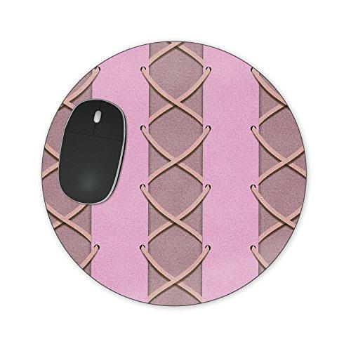 Rapunzel Korset Jurk Mousepad - Neopreen voor Optische & Laser Mouse - Rechthoek Rond Hart Gevormd Round Mousepad roze