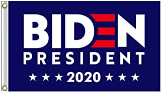 Shmbada American Democratic Party Biden for President 2020 Polyester Flag with Heavy Brass Grommets, Double Stitched Vivid Color Anti Fading, Outdoor Yard Porch Patio Flag, 3x5 Ft