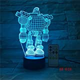 Luz de noche 3D LED Mix Robert Lamp para n Baby Sleep Light Boy Gift Cartoon Kid Base Light