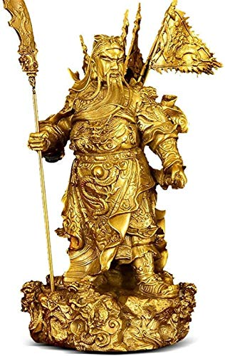 FLYAND Accesorios Decorativos Adornos de Cobre Puro guan Gong joyería Dios Riqueza Dios Estatua Sala de Estar Feng Shui joyería artesanía Riqueza Feng Shui decoración