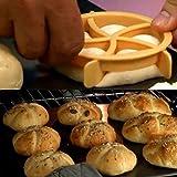 Wanshop-Teigausstecher Teig Cookie selbstgemachte Stempel Formen Backen gelb