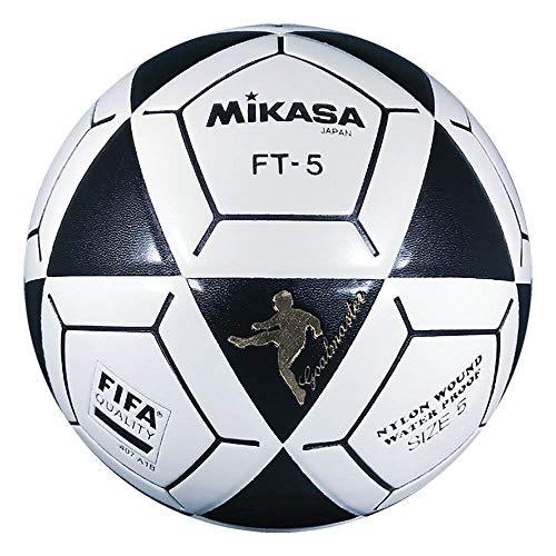 Mikasa FT5 - Pallone da calcio Goal Master, taglia 5, colore: Nero/Bianco