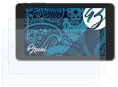 Bruni Schutzfolie kompatibel mit Trekstor SurfTab Breeze 7.0 Plus Folie, glasklare Bildschirmschutzfolie (2X)