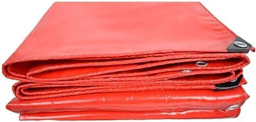 Sgfccyl Bache Voiture bache de Prougeection en Toile de Prougeection Solaire Couteau Rouge raclant Camion Camion Poncho bache imperméable épaisse (Taille   2  2)