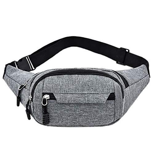 kuou Bumbag Waist Bag,4 Zip Pockets Waterproof Running Waist Fanny...