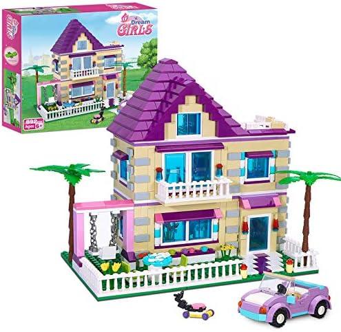 BRICK STORY Girls Friends House Building Kit with 4 Mini People Big Villa Building Blocks Set product image