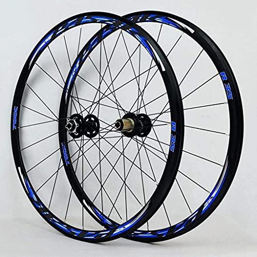 Juego de Llantas 700C para Bicicleta de Carreras, Disco de Rueda/Freno en V, bujes de Cassette de 7-11 velocidades, rodamientos sellados, 6 trinquetes QR 1700g