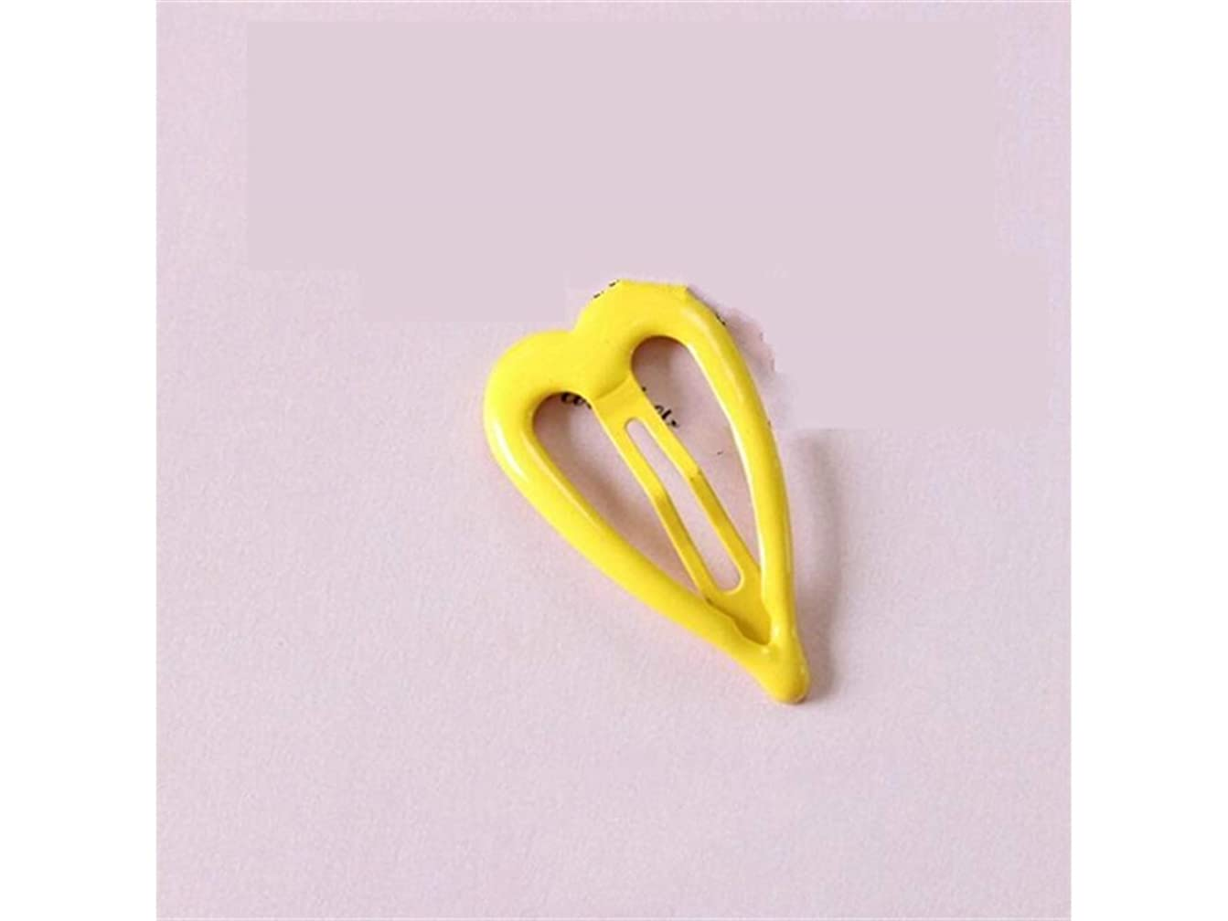 簡単な修理可能旅Osize 美しいスタイル かわいい愛の心の水ドロップヘアピンBBクリップのバングズ女の子のためのヘアアクセサリー(黄色)