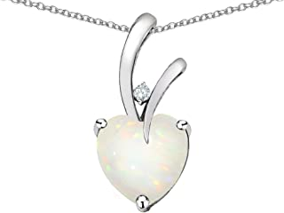 Choice of 10k Gold or Sterling Silver Heart Shape 8mm Endless Love Pendant Necklace