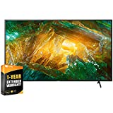 Sony XBR75X800H 75 inch X800H 4K Ultra HD LED Smart TV 2020 Model Bundle with Extended Care...