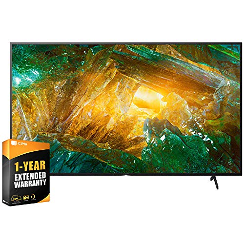 Sony XBR65X800H 65 inch X800H 4K Ultra HD LED Smart TV 2020 Model Bundle with Extended Care Package