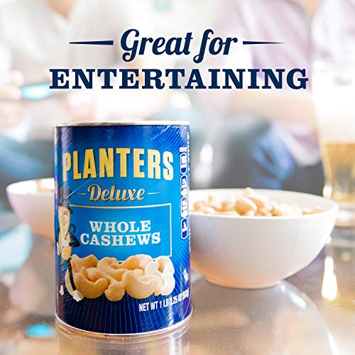 Planters Deluxe Whole Cashews, 1 lb 2.25 oz Canister
