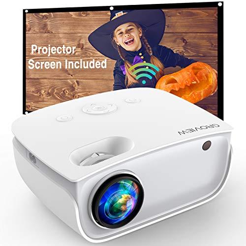 GROVIEW WiFi Projector, Upgraded 6500 Lumen Wireless Projector, Native 720P...