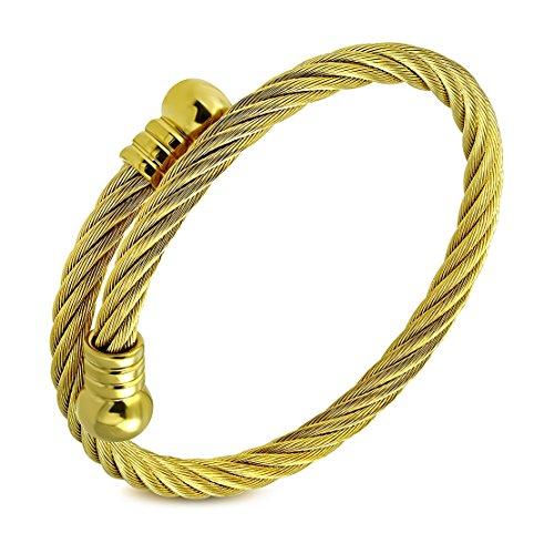 DiamondJewelryNY Bangle Bracelet Cz Heart Twisted Bangle//Hook Lock