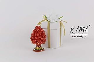 pigna rossa ceramica di caltagirone h 10 cm