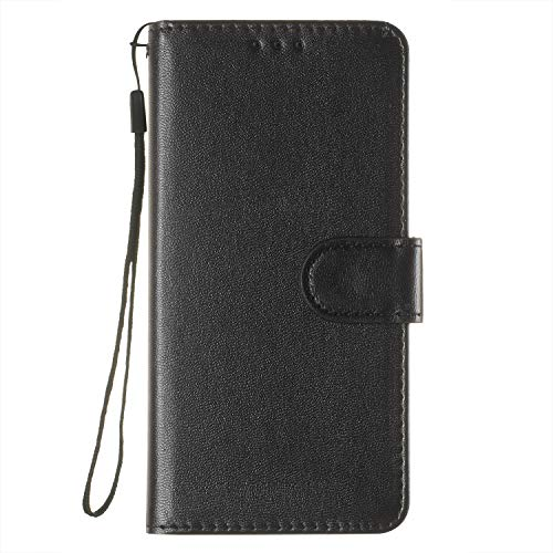 PU Leather Cover for Huawei P20 Pro with Card Slot Book Style Full Body Protective Case Black CUSKING Magnetic Wallet Huawei P20 Pro Case