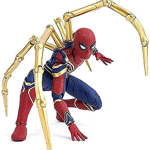 SJS Figura de acción de Iron Spiderman Avengers Infinity War colección de Juguetes de superhéroe de 6 Pulgadas, con Pieza de construcción y Accesorio