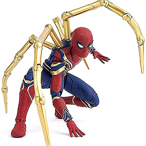 Iron Spiderman Action Figure Avengers Infinity War 6-Inch Super Hero Toy Collection,with Build-A-Figurepiece & Accessory