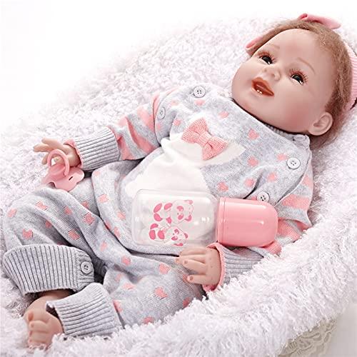 JXWANG Rebirth Cuerpo De Silicona Sobrio - 22inch/55cm MuñEca ReciéN Nacida, con Apariencia De Bebé De SimulacióN PequeñA MuñEca, para NiñOs Set De Regalo para NiñOs